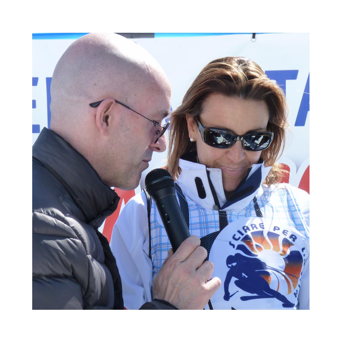 Sciare per la vita Deborah Compagnoni e Luca Viscardi