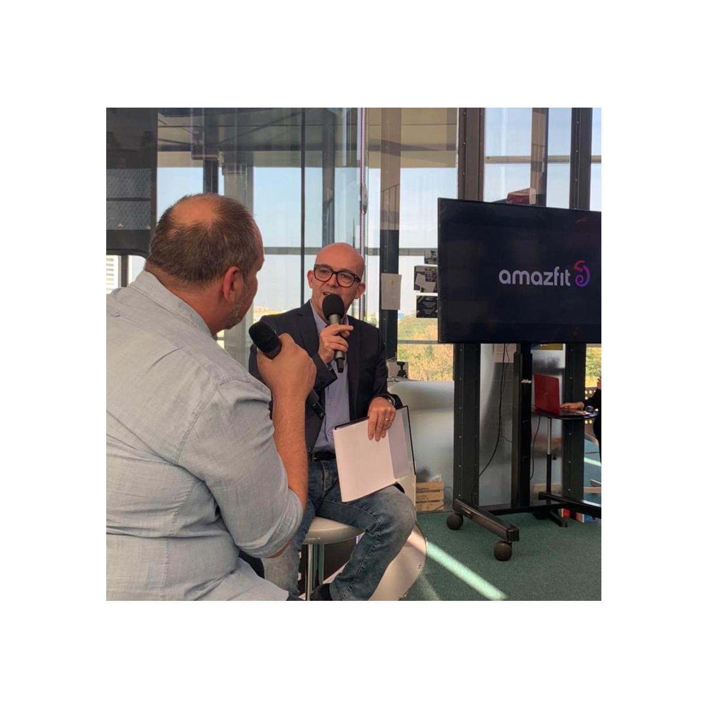 Luca Viscardi con Maurizio Porro di Amazfit