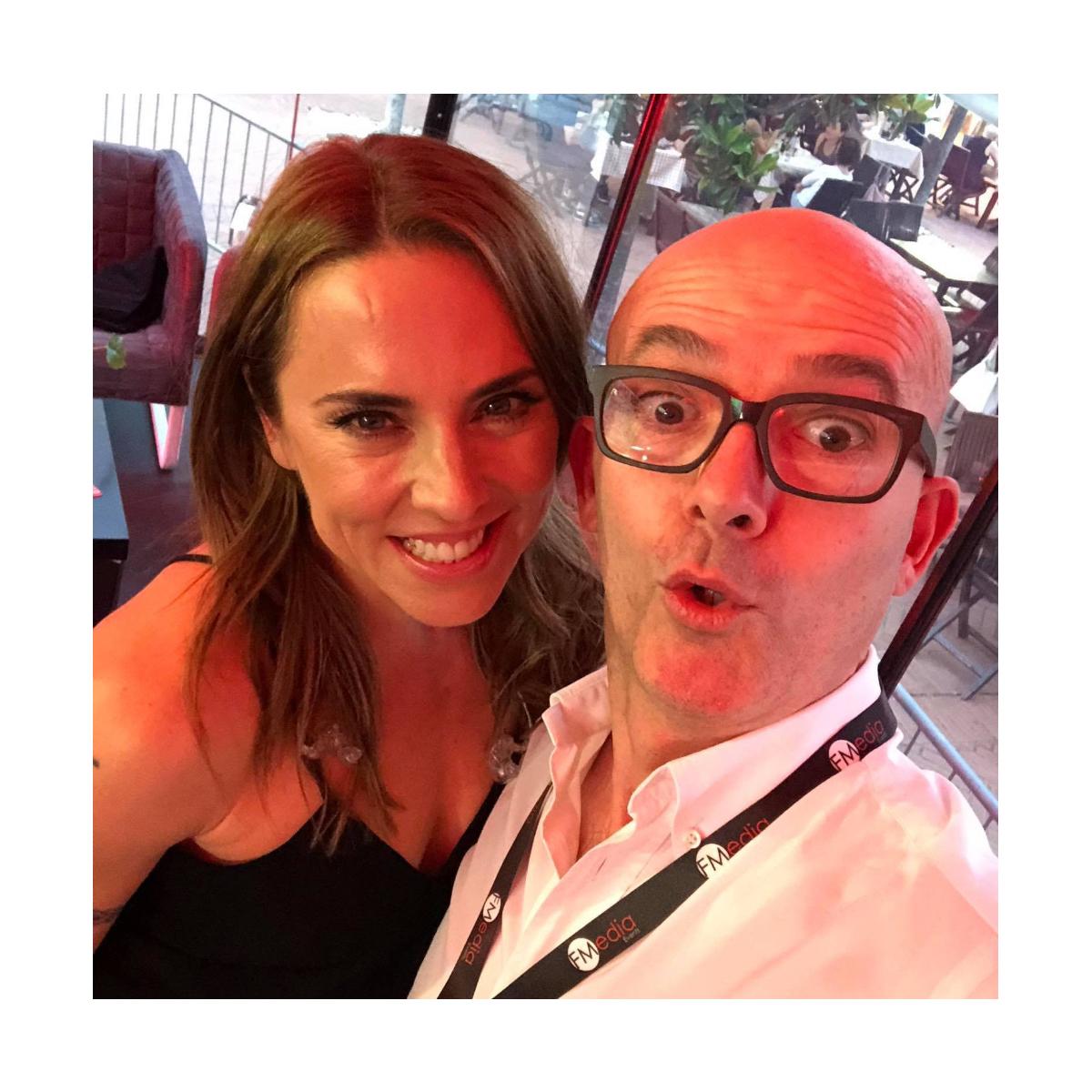 Luca Viscardi con Melanie C